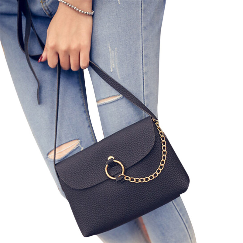 Fashion Women Leather Litchi Stria Handbag Crossbody Single Shoulder Messenger Bag Small Crossbody Bags For Women Bolsos Mujer