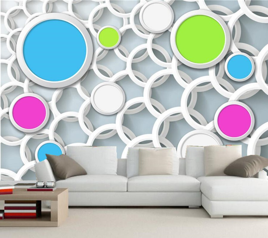 Custom large murals papel de parede,3D circle videowall TV background living room sofa wall bedroom photo mural wallpaper custom large murals 3d cartoon panda papel de parede living room sofa tv background children bedroom wallpaper for walls 3 d