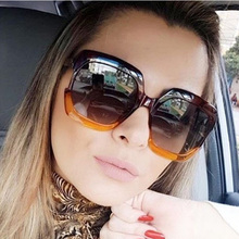 FEISHINI Stars Plastic Festival Celebrity Square Oversized Women Sunglasses Ladies 2019 oculos de sol feminino UV Protector