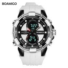 men sports watches BOAMIGO brand new dual display watches quality analog digital wristwatch rubber quartz waterproof gift clock