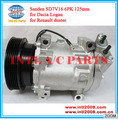 Sanden SD7V16 auto ac air Compressor 7V16 for Renault duster Dacia logan 1.4/1.6 8200117767 8200600000 8200603434 air Compressor