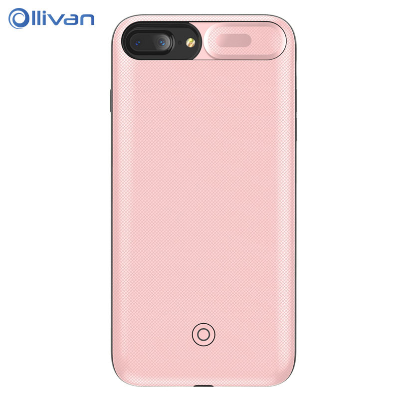 OLLIVAN 5500mAh Clip Battery Charger Cases for iPhone 6 6s 7 8 4.7inch Power Bank Charing Case Backup Charger Cover for 6 s Plus