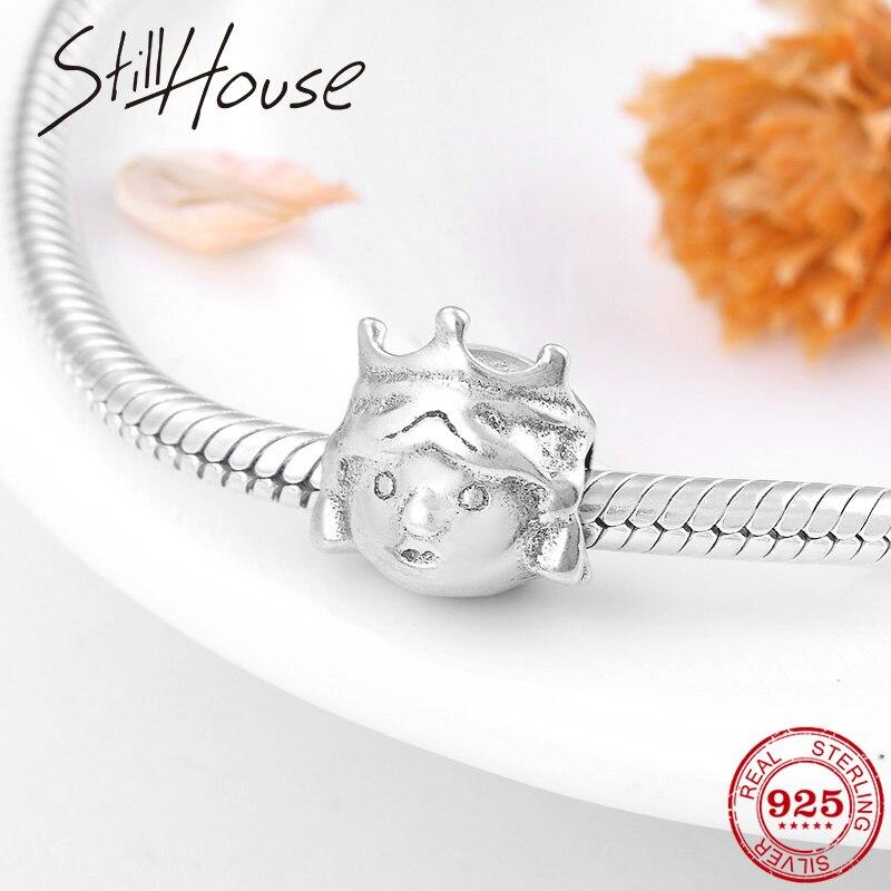 Beautiful princess 2018 Fashion 925 Sterling Silver Beads fit Original Pandora Women Charms Bracelets Jewelry making
