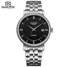 6bfb6c78f6d NAKZEN Japão Miyota 9015 relógios Dos Homens Automáticos Mecânicos Relógios  de Luxo À Prova D  Água Relógio de Negócios de Moda .