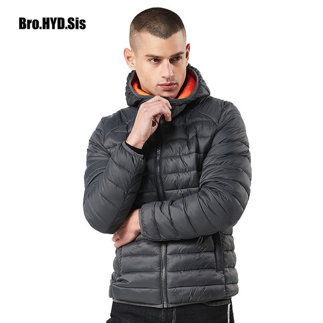 Winter Jacket Hooded Warm Parka Coat Men Zipper Anorak Coat with Hood Windbreaker Cotton Jacket Outercoat Male Clothing