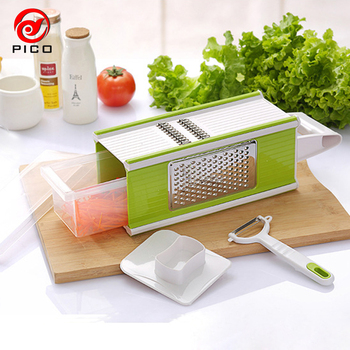 Multifunctional 6 in1 Stainless Steel Fruits Vegetables Cutters Potatoes Slicers Kitchen Gadgets Peeler Slicer Grater ZL267