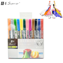 Superior 12 Colors Artist Sketch Markers Water Based Ink Twin Tip Marker for Paints School Drawing