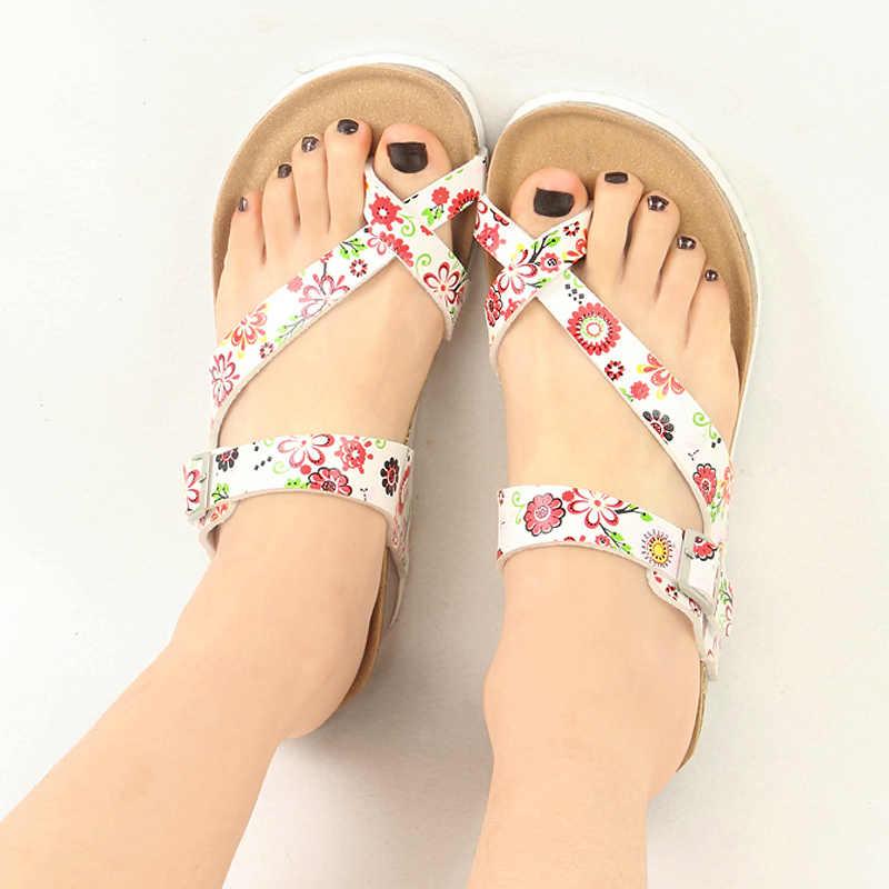 Cuñas Alto Verano Zapatos De Zapatillas Flores Cuña Mujer Con Sandalias Suave Corcho Tacón Plateadas Playa wPkuZiXOT