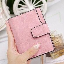 Frauen Vintage Matte Brieftasche ID Kartensteckplätze Bargeld Kurz Reißverschluss Geldbörse