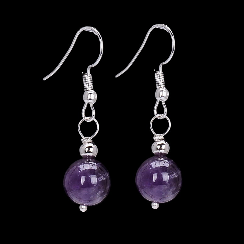 Sedmart Handmade Simple Natural Semi Precious Stone Dangle Earrings White Bead Drop Women Gift In From Jewelry Accessories On