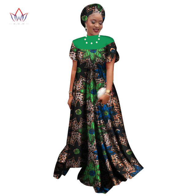 Summer New Style 2018 African Dresses For Women Dashiki Elegant Party Dress Plus Size Traditional