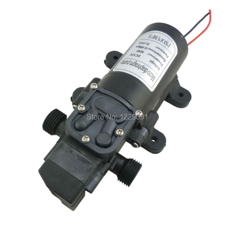 Купить с кэшбэком dc 12v 24v water pump pressure switch automatic on off 60W 5LPM high pressure self priming diaphragm water pump