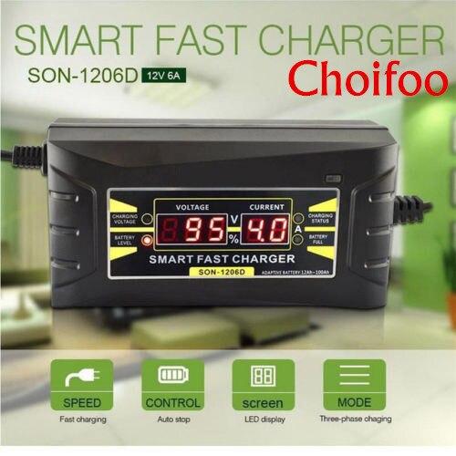 10A/6A Smart US EU Rapide chargeur de batterie De Voiture 12 V Volts Au Plomb-Batteries à l'acide Moteur Moto Batteries Puissance De Charge écran lcd