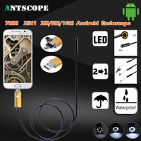 2IN1 USB Android 7mm Lens Dia 2M 5M 10M Length Waterproof Inspection Camera Boroscope Snake Endoscope