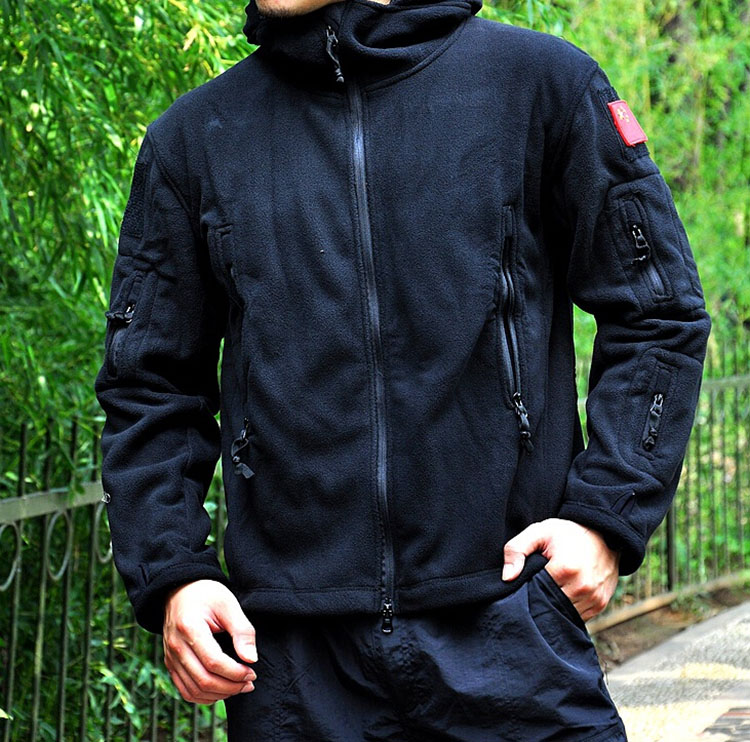 Tactical Jacket Fall Winter Military Uniform Soft Shell Fleece Hoody Jacket  Men Thermal Clothing Casual Hoodies-in Jackets from Men's Clothing &  Accessories ...