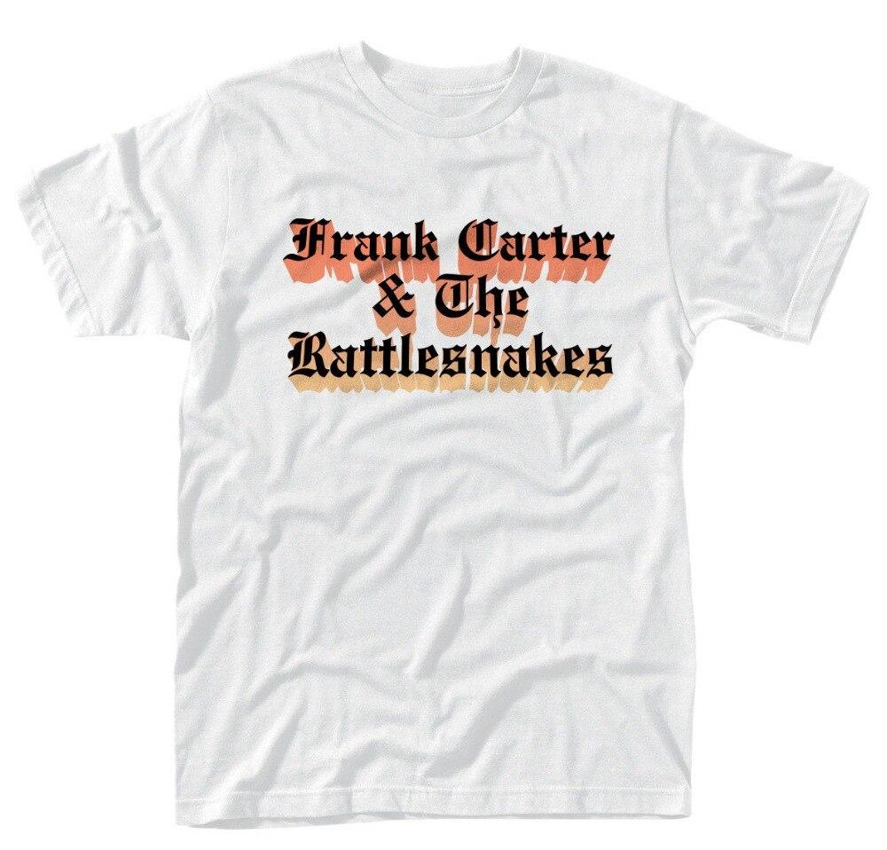 Best Funny T Shirts Frank Carter & The Rattlesnakes Farbverlauf (White) MenS O-Neck Short Comfort Soft Shirt