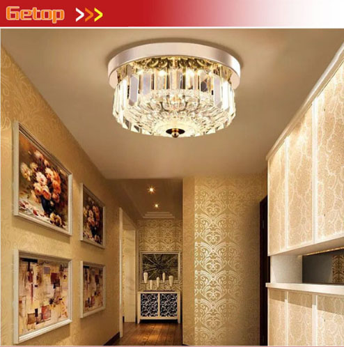 ZYYModern Bedroom LED Crystal Ceiling Lamp Round European Restaurant Aisle Corridor Entrance Hall Lighting bright colorful led lamp installed inside the entrance hall light corridor lamp ceiling lamp lamp stunning