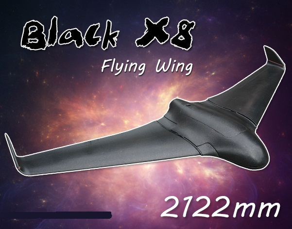 New Arrival 2 Meters 2122mm Skywalker Black x-8 FPV EPO Large Flying Wing Airplane Latest Version X8 RC Plane Remote Control Toy планшет digma plane 1601 3g ps1060mg black