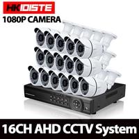 บ้านAHD 16CH 1080จุดHDMI DVR 3000TVL 2.0MP HDกลางแจ้งการรักษาความปลอดภัยกล้องระบบ16 Channelกล้องวงจรปิด