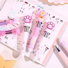 цена 10 in 1 Colorful pens Arrival Novelty Multicolor Cute animal Ballpoint Pen Multifunction Stationery Creative School Supplies онлайн в 2017 году