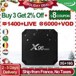 X96 mini IPTV France Box 2G 16G S905W Android 7.1 QHDTV 1 year IPTV Subscription X96mini IPTV Arabic Dutch Belgium France IP TV
