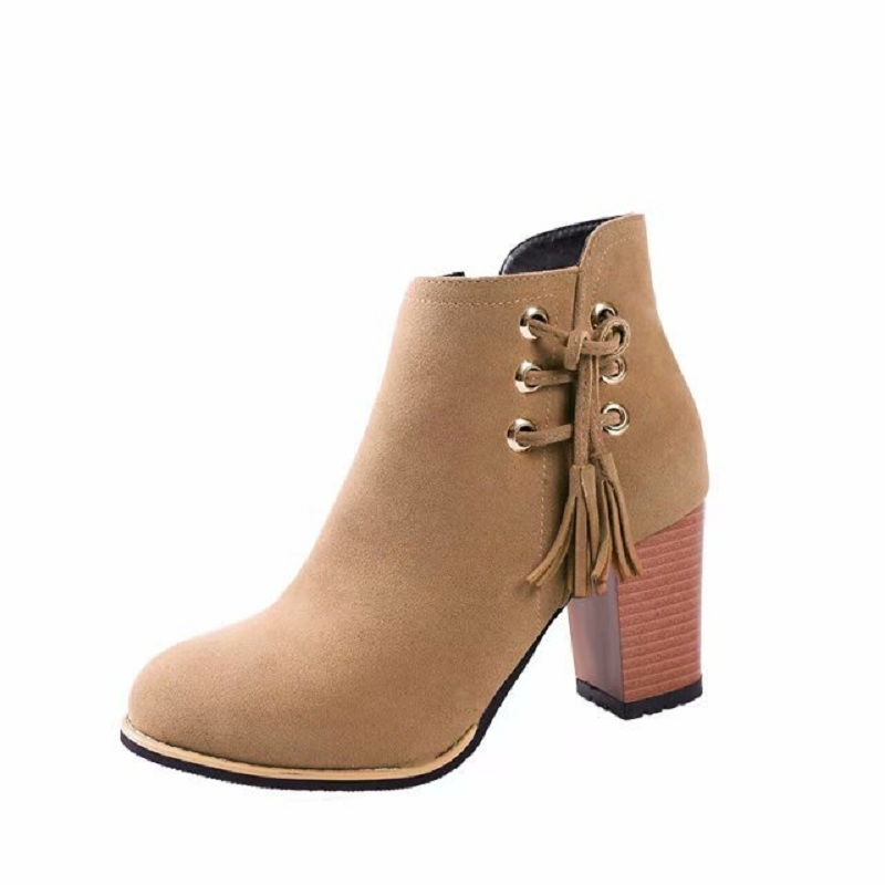 2018 autumn booties female thick with Martin boots British style new thick with womens boots brwon 02162018 autumn booties female thick with Martin boots British style new thick with womens boots brwon 0216