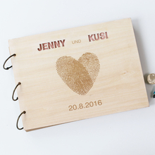 A4 A5 25 Sheets Rustic Love Fingerprint Guestbook, Personalized Photo Album, Custom Scrapbook Decor, Wedding Guestbook