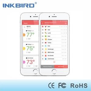 Image 4 - Термометр для печи барбекю Inkbird, Аккумуляторный термометр для печи барбекю с 6 зондами, Bluetooth, подключен к 50 м/150 футов, с магнитным таймером и будильником