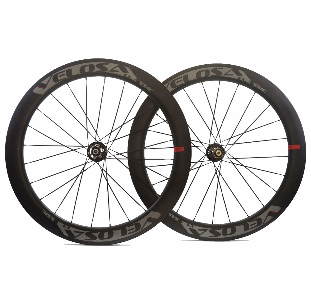 VELOSA! 700C 60mm depth 25mm width disc brake road carbon wheels clincher bicycle carbon wheelset with 771/772 free shipping velosa 700c 60mm depth road carbon wheels 25mm width tubular clincher bike carbon fiber wheelset ud matte finish free shipping
