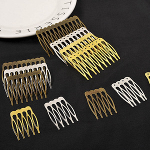 10pcs 5/10 Teeth Gold Bronze Tone Hair Comb Base Hair Claw DIY Wedding Hair Decoration Accessories Women Jewelry Making Findings(China)
