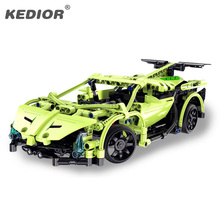 15-20KM/H The RC Track Remote-control Race Car Set Educational Building Blocks Bricks Toys For Kids Boys Game Model RC Car Gift kids rc car toy speed pipes racing track remote control building tubes diy set flash light baby educational toys for children page 4 page 5