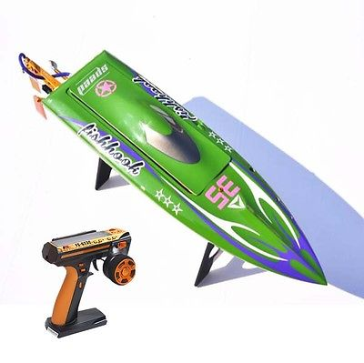 H625 RTR Spike Fiber Glass Electric Racing Speed Boat Deep Vee RC Boat W/3350KV Brushless Motor/90A ESC/Remote Control Green e22 rtr tiger teeth fiber glass racing speed boat w 2550kv brushless motor 90a esc remote control catamaran rc boat blue