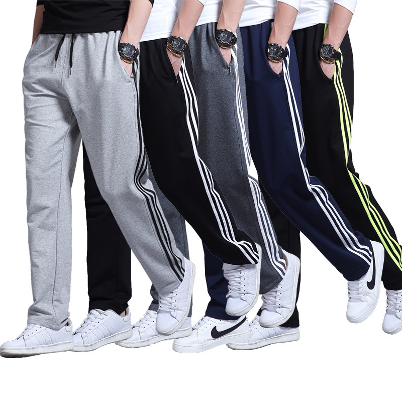 все цены на Plus Size Sports Running Men'S Trousers Cotton Pants Comfortable Loose Pants Training Gym Clothing Knitted Pants