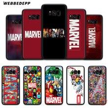 WEBBEDEPP класса люкс с логотипом комиксов Marvel Мягкий силиконовый чехол для samsung A3 A5 A6 S6 S7 край S8 плюс S9 Plus Note 8 9 10 Plus чехол s