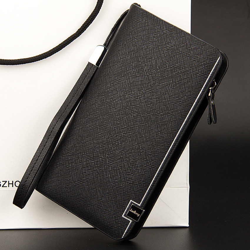 Brand Men Wallet Leather Dull Polish Purse Fashion Casual Long Business Male Clutch Wallets Masculina Phone wallet