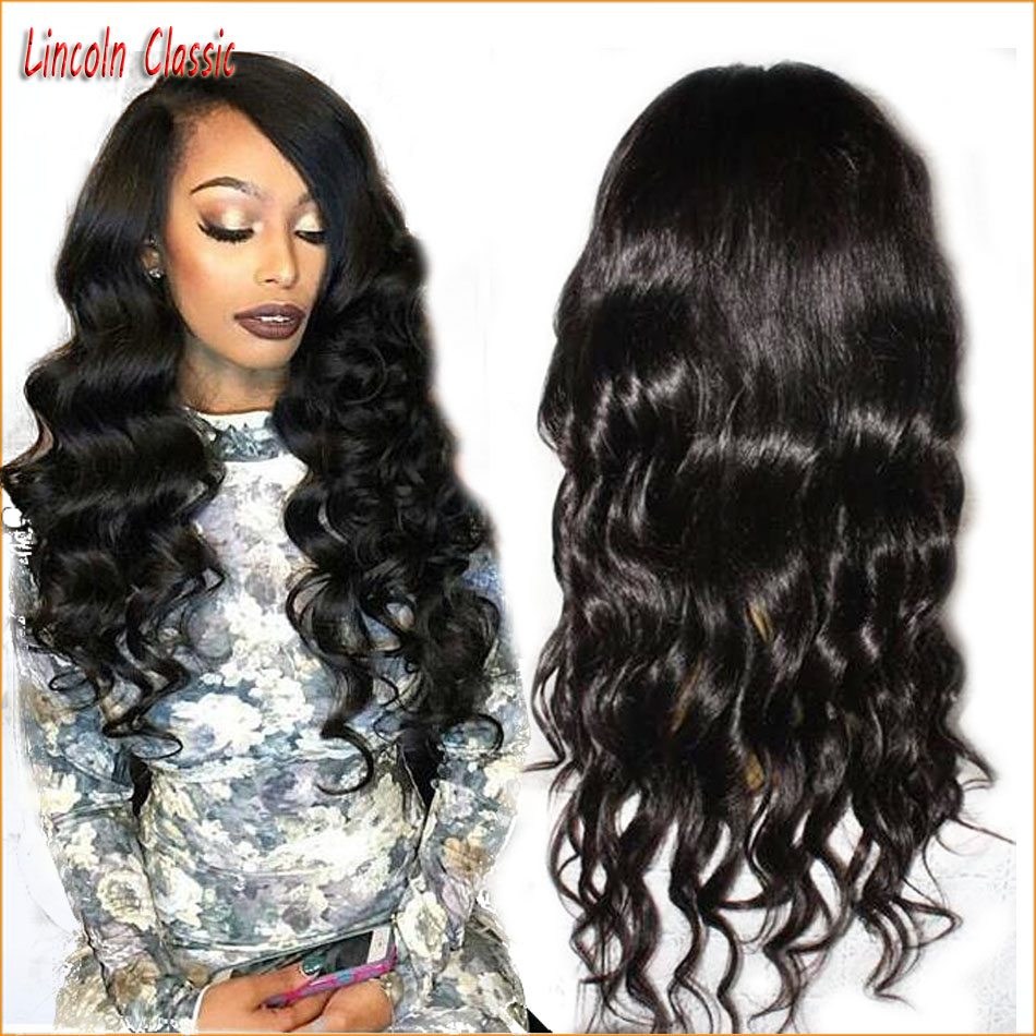 7A Wholesale Price Best Loose Deep Wave Wig Lace Front Brazilian Virgin font b Hair b