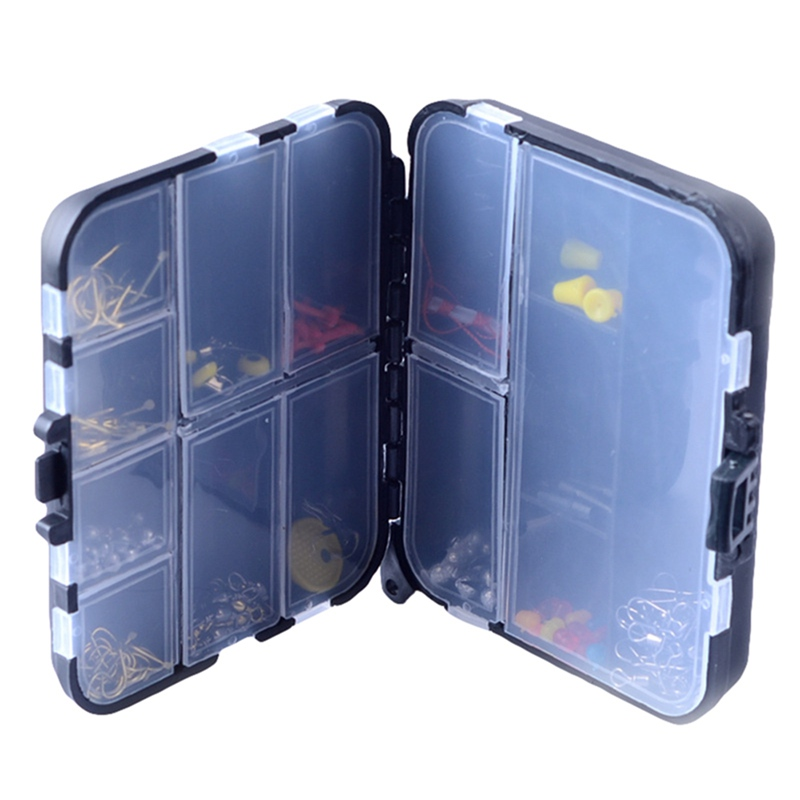 15 Slots Fishing Lure Hook Tackle Box Adjustable Portable Plastic Storage Case Tackle Multifunctional Organizer Fishing Boxes
