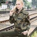 FreeArmy Outono Marca Casacos Mulheres Nova Jaqueta Jeans Feminino Camuflagem Jaquetas Queda Para As Mulheres Brasão Bomber Jacket Camo Plus Size