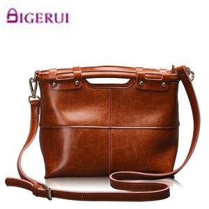 Image 1 - Brand New Fine design Cowskin handbag women casual tote bag fashion Genuine leather shoulder bags female handbag A37