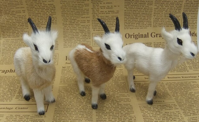 5 Pcs A Lot Cute Simulation Sheep Toys Polyethylene Fur Goat Models 11x11cm103
