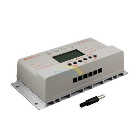 MPPT 30A LCD controlador de carga Solar 12 V 24 V auto interruptor pantalla LCD MPPT30 controlador de carga Solar MPPT 30 controlador de cargador - 5