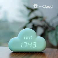Voice activated Cloud with Digital Alarm Clock Electronic Clock Watch Weapon Wake Up Children Repeat Bed Alarm Clock Kids