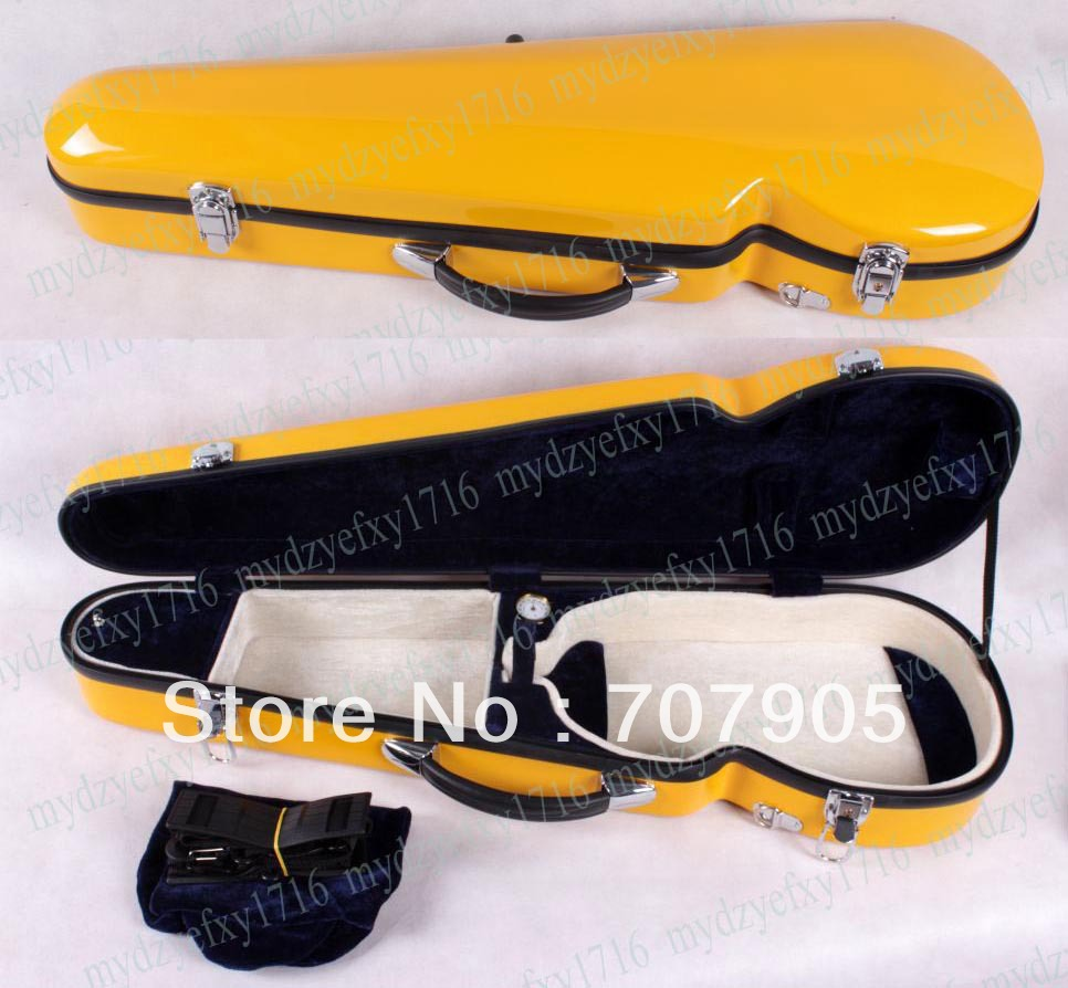 New violin case 4/4 Glass fiber case Water Proof Light Durable Dropshipping Wholesale Black White Blue Many colors 4 4 full size new violin case glass fiber light durable black white blue red 1215