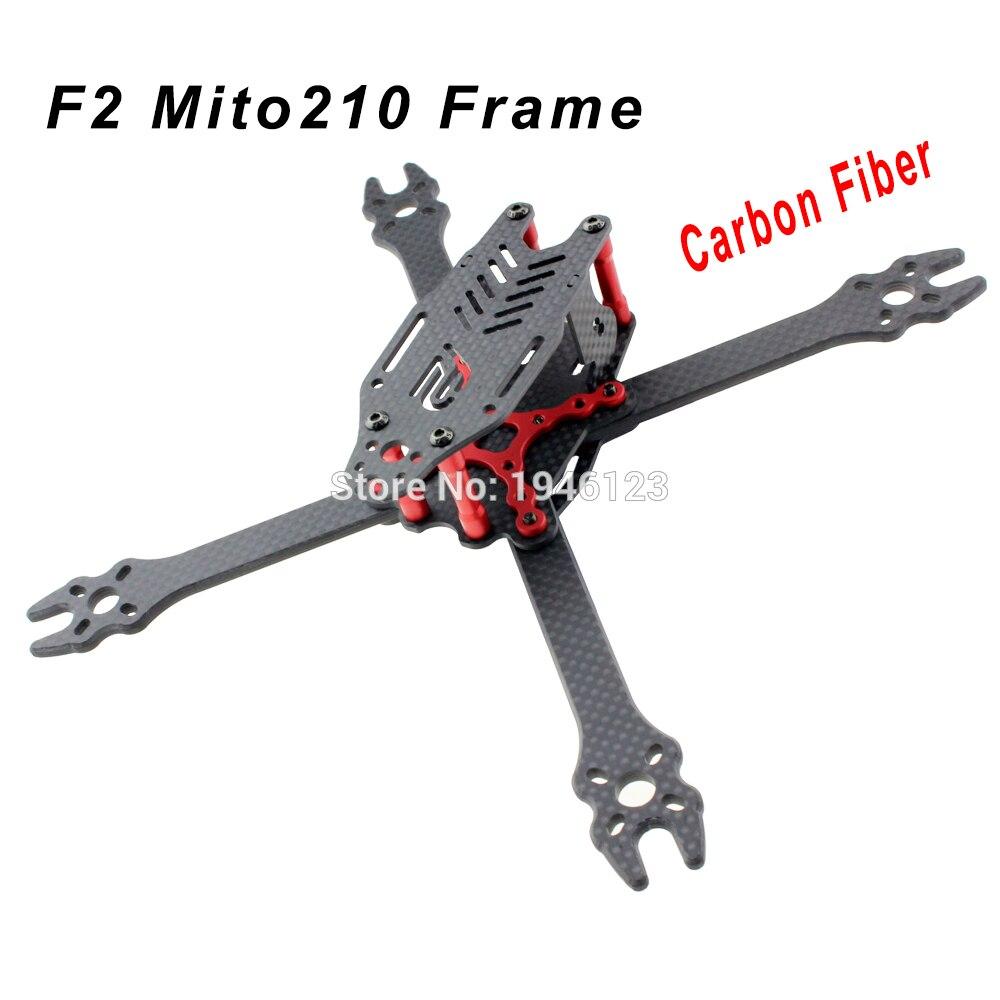 Nouveau F2 Mito210 210mm Fiber de carbone FPV course Drone True X Kit de cadre 4mm bras noir rouge pour bricolage Multirotor pièces de rechange