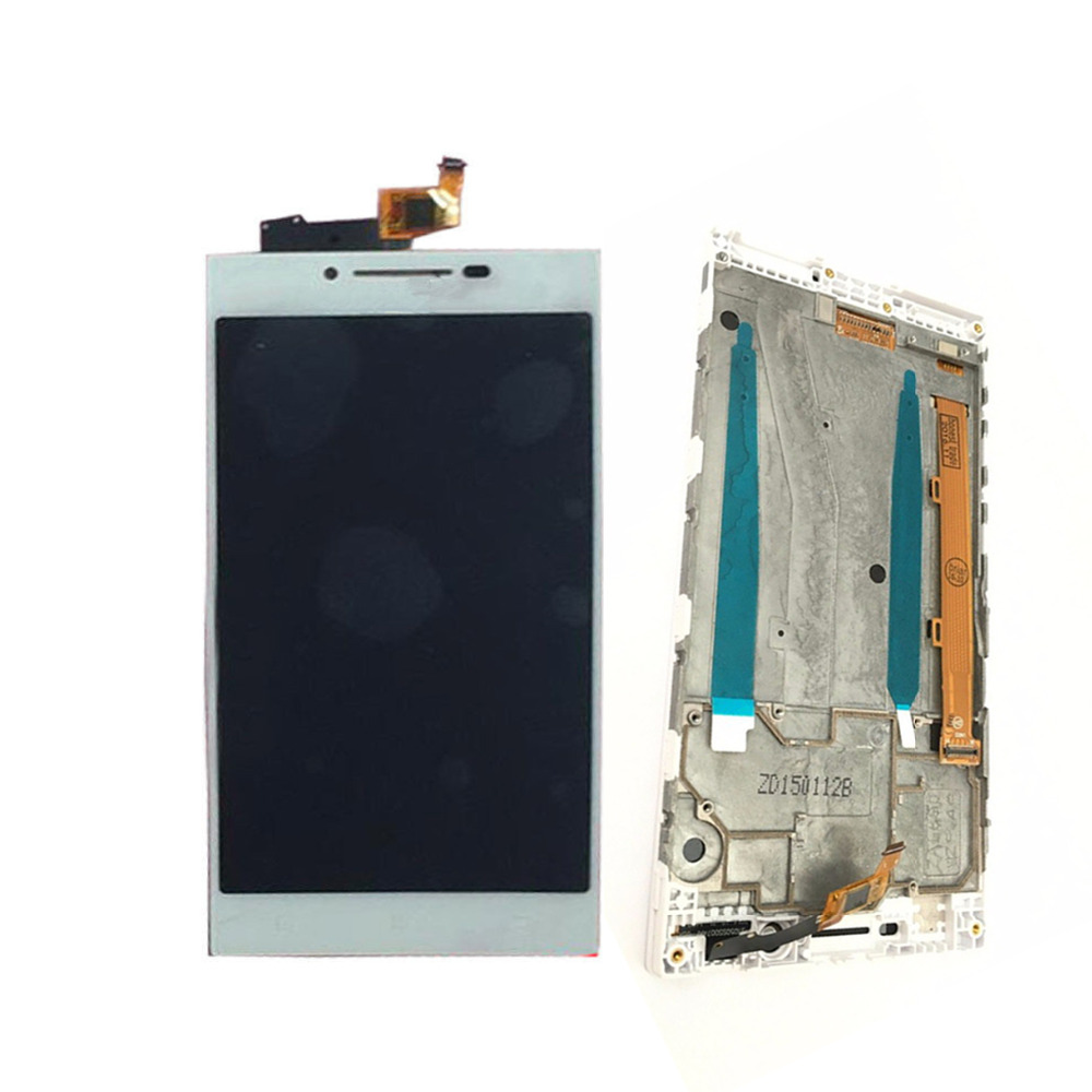 For <font><b>Lenovo</b></font> <font><b>P70</b></font> LCD <font><b>Display</b></font> Touch Screen Digitizer Assembly with Frame <font><b>P70</b></font>-A <font><b>P70</b></font>-T Replacement White image