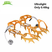 BRS S3 Ultralight 14 Teeth Aluminium Alloy Bundled Crampons Ice Gripper Outdoor Ice Climbing kits