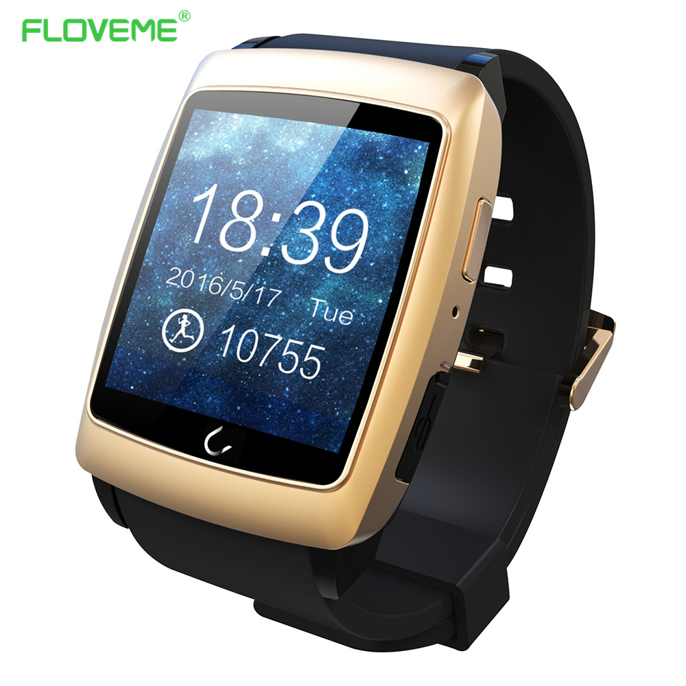 FLOVEME 1.6'' Android 4.4 GPS Smart Watch Bluetooth NFC Connection Smartwatch Phone Call Health Fitness Sport Wearble Device