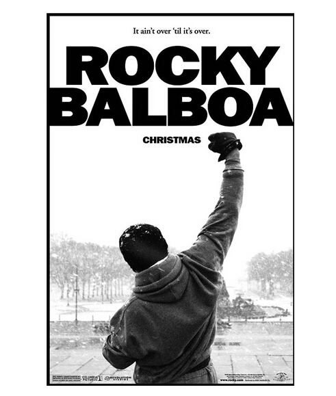 Rocky balboa home decoration retro classic vintage movie poster print for wall 50x75cm free shipping canvas