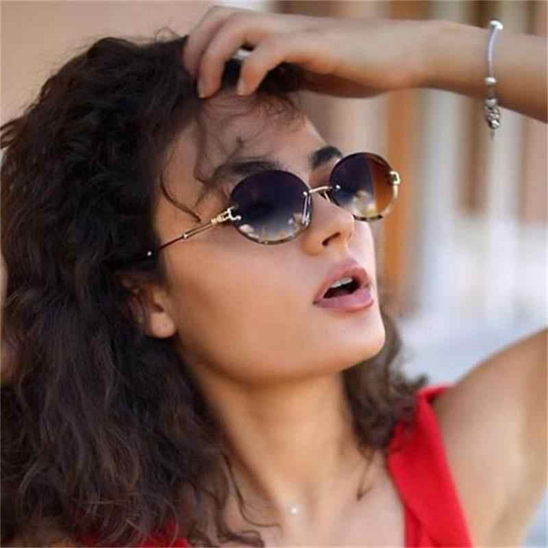 Women Men Red Retro Sunglasses Outdoor Frameless Eyewear Glasses Fashion 2020