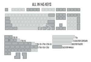 Image 5 - dsa pbt blank light grey grey Keycaps 60% gh60 poker2 xd64 87 104 xd75 xd96 xd84 cosair k70 razer blackwidow planck jj40 jj50
